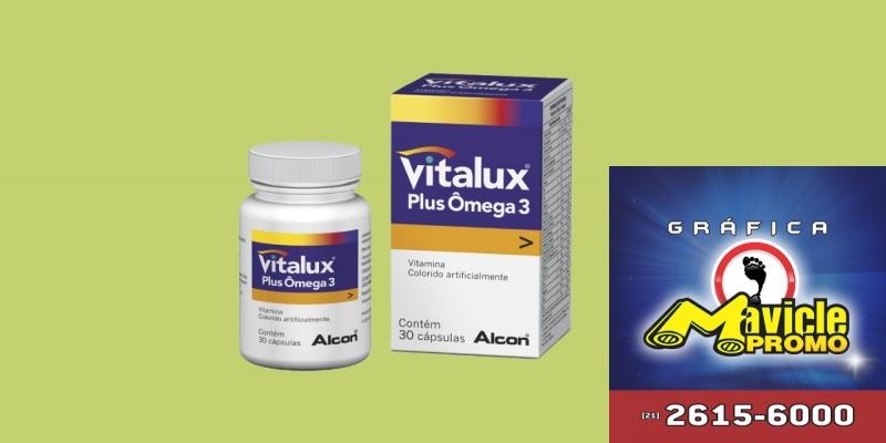 Vitalux Plus Omega 3 da Alcon   Guia da Farmácia   Imã de geladeira e Gráfica Mavicle Promo